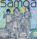 Samoan Children. Children on 10 Tala 2008 Banknote from Samoa royalty free stock images