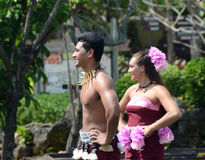 Samoan dancers perform traditional dancing Royalty Free Stock Images
