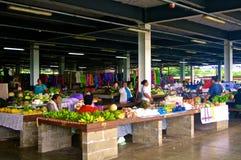 Samoan Markets. The fruit market on Savaii Island, Samoa royalty free stock photos