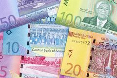 Samoan money a business background. With Tala royalty free stock image