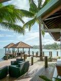 Samoan Resort on Ocean Stock Images