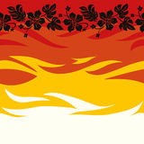 Samoan Seamless Background. Energic Spirit of Samoan Seamless Background Stock Image
