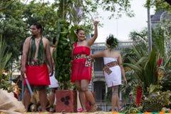 Samoan shaka. Event: 2011 King Kamehameha Birthday Celebration Location: 'Iolani Palace, King Street, Honolulu, on the island of O'ahu, Hawai'i, USA Subject stock images