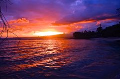 Samoan Sunset stock images