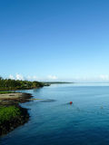 Samoan Waters from Ferry Royalty Free Stock Photo