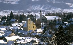 Samobor Croatia. Samobor - city in Croatia - winter panoramic photo Stock Images