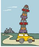 samochód ładować udziału bagażu wakacje royalty ilustracja