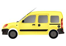 Samochód autovehicle van Żółty Zdjęcia Royalty Free