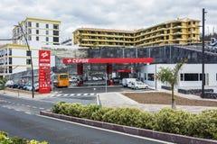 Samochód benzynowa stacja CEPSA Tenerife, Hiszpania Obrazy Stock