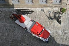 samochód brygadowa ogień niemcy stara obraz royalty free