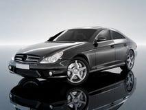 samochód czarny biznesowa klasa Zdjęcie Royalty Free