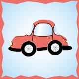 Samochód, czerwony kolor w starym stylu Obraz Stock