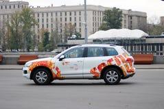 Samochód dekorujący Olimpijskimi symbolami Zdjęcie Stock