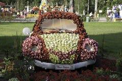 Samochód dekorujący z kwiatami Fotografia Royalty Free