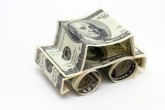 samochód dolarów, Obrazy Stock