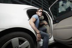 samochód dostaje jego gwiazda rocka Fotografia Royalty Free