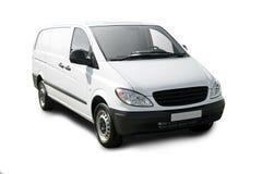 samochód dostawczy biel Obraz Royalty Free
