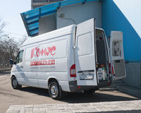 Samochód dostawczy Comus Zdjęcie Royalty Free