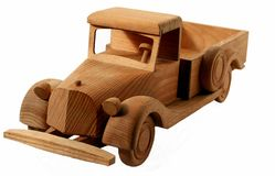 samochód drewniany Fotografia Stock