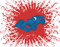 samochód formuły jeden wektor ilustracji Obraz Royalty Free