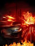 samochód gorący ilustracji