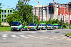 Samochód holowniczy na ulicach Moskwa Obrazy Royalty Free