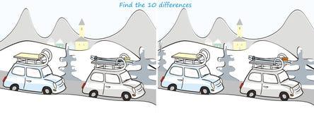 Samochód i landscape-10 różnicy Zdjęcie Royalty Free