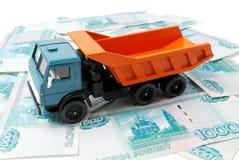 Samochód i pieniądze Zdjęcia Stock