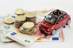 Samochód i pieniądze obrazy royalty free