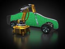 Samochód i technologia ilustracja wektor