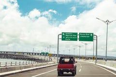 Samochód I Tollway W Bali Zdjęcie Royalty Free