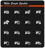 Samochód ikony Usługowy set obrazy royalty free