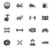 Samochód ikony Usługowy set Obrazy Stock