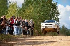 samochód jedzie Igor impresa subaru biel zverev zdjęcie royalty free