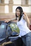 samochód jej japońska nowa kobieta Zdjęcia Stock