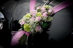samochód kwitnie ślub Obrazy Stock