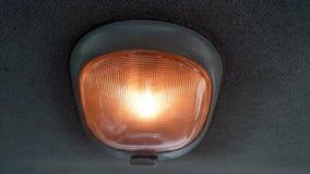Samochód lekka podsufitowa pomarańcze Obraz Royalty Free