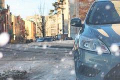 Samochód mrozowa zima Obraz Stock