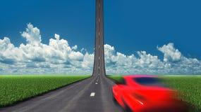 Samochód na drodze ilustracji