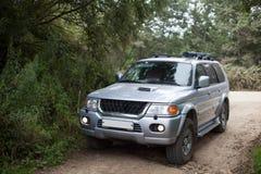 Samochód na drodze Obrazy Stock