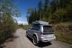 Samochód na drodze Obraz Royalty Free