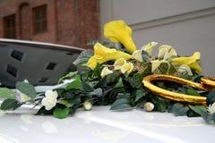 samochód na ślub Obrazy Royalty Free