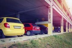 samochód na parkingu partii Zdjęcie Royalty Free
