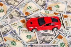 Samochód na pieniądze gotówce Obraz Royalty Free