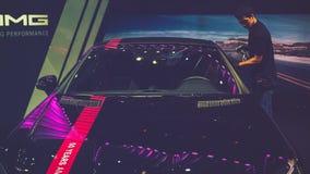 Samochód na pokazie przy Wietnam motorowym przedstawieniem 2017 Zdjęcia Stock