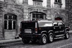Samochód na ulicach stary miasto Baku Obraz Stock
