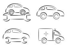 samochód naprawa royalty ilustracja