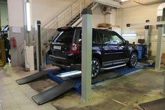 Samochód naprawy garaż zdjęcie royalty free