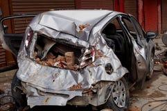 samochód niszczący Zdjęcia Stock