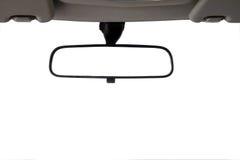 samochód odizolowywający lustrzany tylni widok Zdjęcia Stock